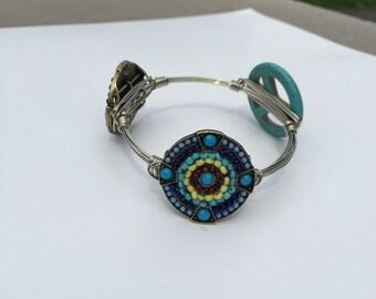 wire wrap bangle