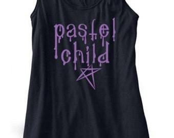 Pastel Goth Tank Top - Pastel Child - cute flowy tank top kawaii clothing gothic lolita punk soft grunge scene emo - cute ladies flowy tank