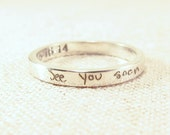 Personalized Jewelry - ACTUAL Handwriting Ring - Engraved Silver Wedding Band - Memorial Jewelry - Wedding Band - Personalized Ring