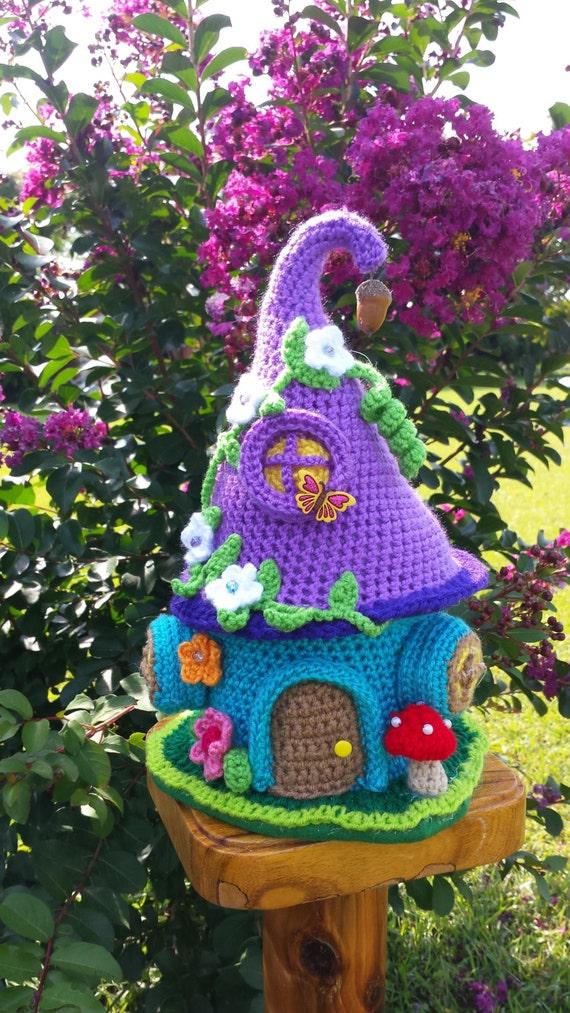 Free Kawaii Amigurumi Pattern : A Fairy / Gnome Fantasy House Garden Decor