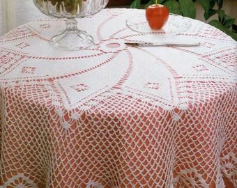 Thread Crochet Pattern / Crochet Tablecloth Pattern / Crochet Home Decor / Housewarming Gift Idea / INSTANT Download Pattern PDF (1709)