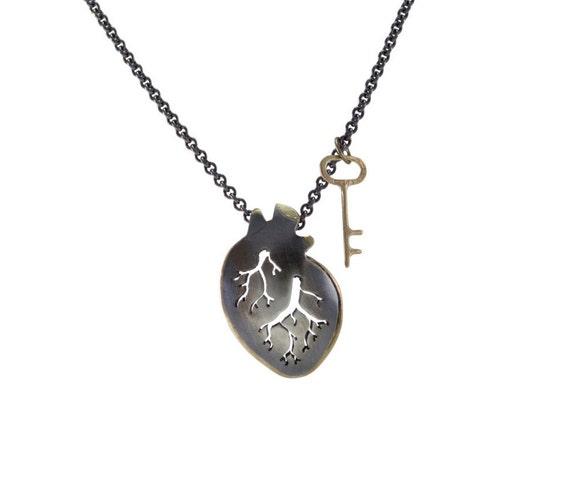 Golden Key & Heart Necklace