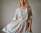 1970s Wildflower Day dress~Size Medium to Large