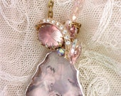 On sale!!! Tiny Dancers Mixed Media Necklace