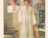 Butterick 4560 5729 1970s Bell Sleeve Pullover CAFTAN Pattern Womens Vintage Sewing Pattern Size 10 Bust 32