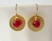 Red Crystal Eco-Friendly Earrings Valentine