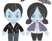Printable PDF - Vampire Paper Dolls