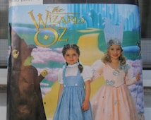 Simplicity 7801 / 0631 - Wizard of Oz Costumes for Girls - Size 3, 4, 5, 6, 7, 8 - Glinda, Dorothy, Galinda, Wicked Witch, Elphaba - CUTE