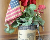 Let Freedom Ring Patriotic Primitive Floral decor