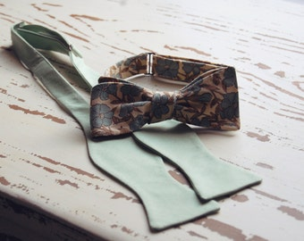 Handmade Cotton Men's Bowtie for your Wedding / Bowties / Ties / Traditional Bowtie / Bow Tie / Cotton Bowtie / Handmade / Custom Color