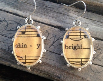 Shiny & Bright Music Earrings