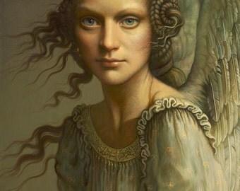 Beauty of Angel Greeting Card by Yana Movchan