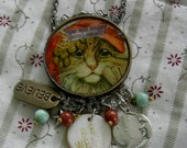 Madam Zenobia Knows All, Sees All - Collage Charm Necklace - Be Well
