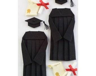 Little B Graduation 3D Stickers, Set of 8 Graduation Stickers