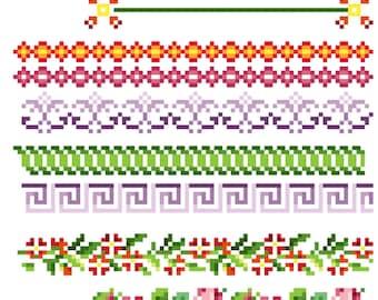 Amazing borders 2 - Cross stitch pattern PDF. Instant download