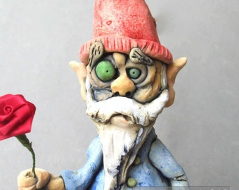 Garden Gnome Sculpture Wall Hanging