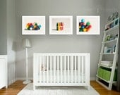 crayon photo collection, colorful nursery art, vibrant crayons, set of 3 prints, playroom wall art, large wall art