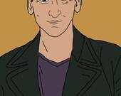 Doctor Who (Christopher Eccleston) Mini Art Print