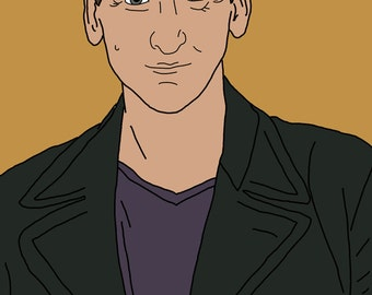 Doctor Who (Christopher Eccleston) Mini Art Print