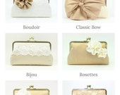 Bridesmaid Clutch Set of 6 | Personalized Bridesmaid Gift Idea | Wedding Clutch | Set of Clutches [Set of 6 Clutches: Various Designs]