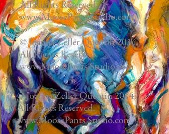 "EQUINE FINE ART Equestrian Horse ""Lipizzaner"" Open Edition print by Joanna Zeller Quentin"