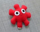 Red Snuggle Monster Plushie, Stella