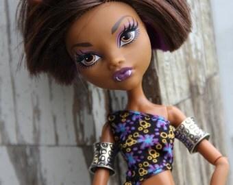 1 Arm Cuff Bands Bracelets fits Petite Slimline Dolls Tribal Leopard Cheetah Print