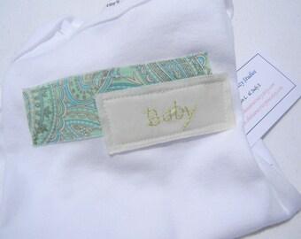 Hand Embroidered Baby Onesie Size 6 months- Gender Neutral- Appliqued Creeper