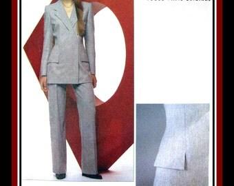 Vogue Paris Original-Sewing Pattern- ALEXANDER MCQUEEN For GIVENCHY-Sublime Tailored Jacket-pants Ensemble-Uncut-Size 14-Rare-Collectible