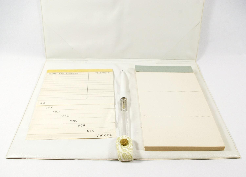 Vintage Day Planner Stationary Set Address Book By