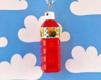 Pop Bottle Necklace - Red