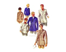 60s Boys Blazer Pattern Simplicity 8469, Chest 25, Double Breasted, Notched Collar Boys Suit Jacket Vintage Sewing Pattern