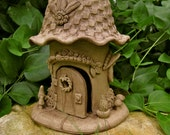 Handbuilt Ceramic Gnome House Garden Decoration Gardener Gift garden art sculpture outdoor folk art woman gift keepsake ooak