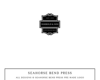 Logo Design, Pre-made Logo Identity, Small Business Branding, Wedding Logo and Branding, Harrold & Son (122)