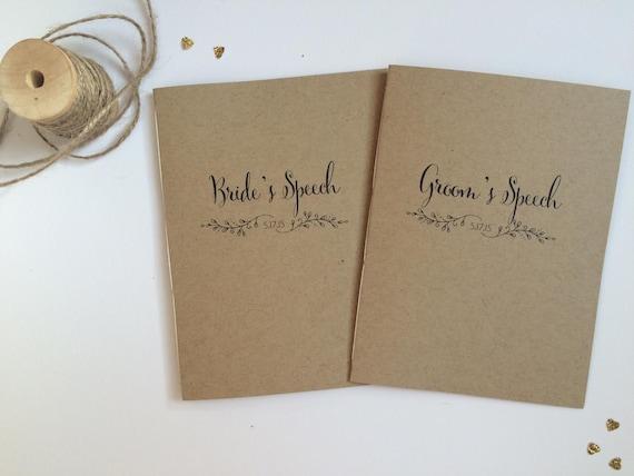 Wedding Speech Books - Bride and Groom Speech Books - Speech booklets - Bride's Speech - Groom's Speech - Rustic Wedding - Ceremony