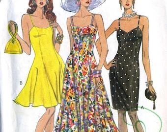 VTG Vogue 8314 UNCUT Misses Princess Seam Slip SunDress Sewing Pattern Size 6-10