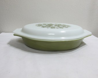 Pyrex Casserole Spring Blossom or Crazy Daisy Oval Divided