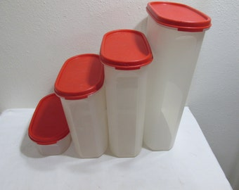 Tupperware Canisters Set of 4 Containers with Matching Lids