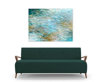 Instant Digital Download Art Print Abstract Painting Contemporary Beach Home Decor teal turquoise white sand ocean inspired, By The Bay