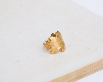 Gold Oak Leaf Ear Cuff Earring Nature Woodland Forest Rustic Oak-leaf Fairy Silver Oak Leaf