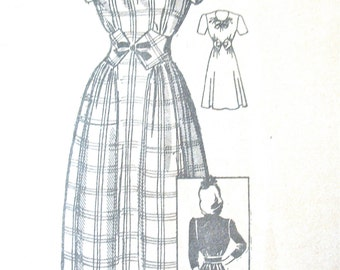 1940s Mail Order Misses' Dress Pattern 4620 Vintage Sewing Fitted Bodice   Bust 29 inches
