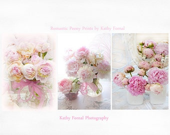 Peonies Photography, Dreamy Romantic Peonies Wall Art, Shabby Chic Peonies, Peonies Prints, Peony Floral Notecards, Baby Girl Nursery Decor