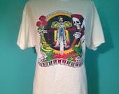 Original vintage 1975 Grim Reaper biker transfer a new T-shirt