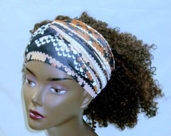 Earthly Stretch Hair Scarf- Hair Wrap-Natural Hair-Dread Locs-Hair Accessories