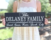 Personalized Family Sign Wedding Christmas Holiday Bridal Shower Gift (Item Number MMHDSR10065)