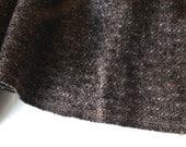 "1+ yard VTG fabric: black ""static"" pattern wool"