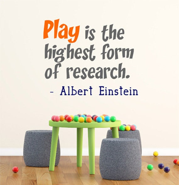 Classroom Decor Research ~ Albert einstein wall decal quote by decordesigns