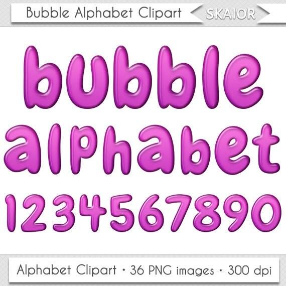 Alphabet Clipart Purple Bubble Alphabet Clip Art Violet Letters