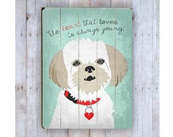Shih Tzu Art, Shih Tzu Sign, Shih Tzu Dog, Romanian Proverb, Dog Art, Wooden Sign, Dog Lover Gift, Wood Dog Sign, Pet Lover Gift, Wood Plank