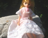 Takara Jenny Doll in pink satin gown, early 90s Japanese Barbie